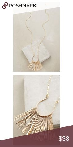 """Anthropologie Waikiki Pendant NWT Online exclusive still full price at Anthro.com. Gold tone metal. 30"""" long with 4"""" extender and 2"""" pendant. Pics coming. 10% bundle discount no trades or pp. Anthropologie Jewelry Necklaces"""