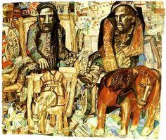 The Dray-Men by Pavel Filonov