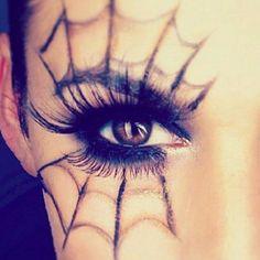 Spiderweb Halloween Makeup Ideas