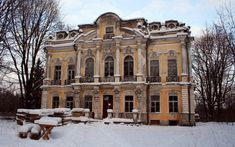 A recent picture of Alexander II's private dacha.  Though the building was restored after sustaining severe damage from shelling during World War II, it was abandoned in 1980.  It has fallen into an advanced state of delapidation.  Plans are to restore it as a wedding palace by 2015.  However, the building will remain outside of the confines of the Peterhof State Museum-Preserve.  this marvelous building could be better served as part of the Peterhof State Museum-Preserve.