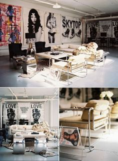 Punk room - Inspired by Punk 3 Rooms with Edge – Punk room Punk Rock Bedroom, Punk Room, Punk Decor, White Picture, My New Room, Interior Design Inspiration, Apartment Living, Living Room, Decoration