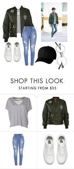 """""""sehun style"""" by lady-lekomtseva ❤ liked on Polyvore featuring Acne Studios, Pilot, Vans and Flexfit"""
