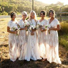 long lace bridesmaid dresses cap sleeve