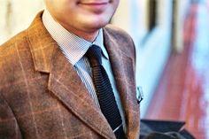 silk_knit_tie_j_crew_sterling_silver_tie_clip_vintage_pendleton_coat