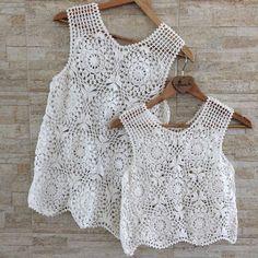 Crochet Abbreviations, Crochet Tops, Lace, Instagram Posts, Shirts, Clothes, Dresses, Women, Fashion