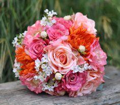 Summer Wedding Bouquet Keepsake Bouquet by Hollysflowershoppe, $135.00
