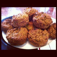 Pumpkin Pie Muffins (Paleo, Nut-free, Sugar- free)