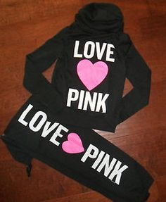 Victoria's Secret Love Pink BLING Sequin Chevron Hoodie And ...