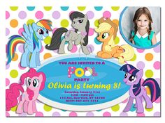 My Little Pony Pool Party Invitation  My Little Pony