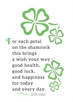 Irish toasts are perfect for St. Patrick's Day decor! These free printables are … Irish toasts are perfect … St Patricks Day Cards, St Patricks Day Quotes, Saint Patricks, Happy St Patricks Day, St Patrick Quotes, Irish Toasts, Irish Quotes, Irish Sayings, Irish Poems