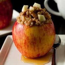 High Protein #Breakfast Idea: #Apple Walnut #Oatmeal