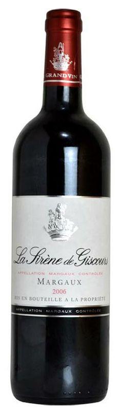 【楽天市場】シレーヌ・ド・ジスクール[2006]年・AOCマルゴー・メドック・グラン・クリュ・クラッセ・第三級・セカンドラベルLa Sirene de Giscours [2006] Chateau Giscours AOC Margaux:うきうきワインの玉手箱