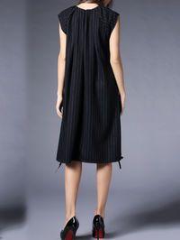Stripe Printed Wool-blend Midi Dress