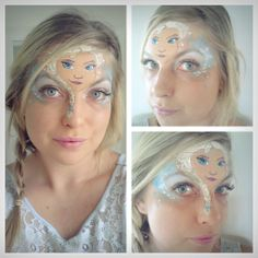 Disney's Frozen face painting of Elsa. Disney Face Painting, Girl Face Painting, Belly Painting, Face Painting Designs, Painting For Kids, Face Paintings, Face Paint Party, Cool Face Paint, Face Paint Makeup