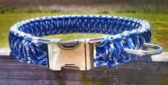 Blue Camouflage Paracord Dog Collar  by DanTheParacordMan on Etsy, $20.00