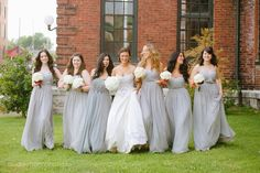 Such a cute picture! Also, love the bridesmaid dresses. Something different. Audrey Hannah Photo Blog - home