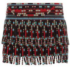 Valentino Beaded Fringe Mini Skirt (297.495 UYU) ❤ liked on Polyvore featuring skirts, mini skirts, bottoms, falda, saias, fringe mini skirt, valentino skirt, beaded mini skirt, short skirts and silk mini skirt