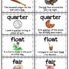 This is a Memory game to help students understand homographs or multiple meaning words. Each page has 8 cards. You will need to cut out the cards along the black lines. Each card has a homograph, picture of that homograph, and a sentence using that homograph.