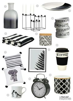 Monochrome your home: 12 items under Monochrome, Lust, Celebration, Strong, Homes, Colour, Home Decor, Accessories, Black