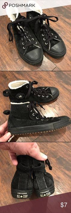 🌻Chuck Taylor Suede Converse These shoes have so much life left in them. There is a rip in the top layer of the material as seen in the picture, but this can easily be seen with black thread. Great pair of shoes! Converse Shoes Sneakers