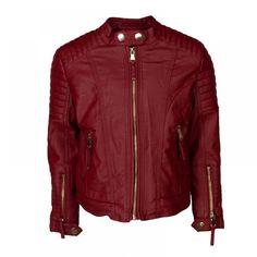 Τζάκετ δερματίνη Εβίτα 199039 (6-16 ετών) Leather Jacket, Athletic, Zip, Jackets, Fashion, Studded Leather Jacket, Down Jackets, Moda, Leather Jackets