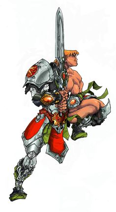 Did this back in 2005 while i was learning Pshop. Snake armor He-man Superhero Villains, Marvel Characters, Fantasy Characters, Fantasy Art Men, Fantasy Warrior, He Man Thundercats, Character Art, Character Design, Cartoon Shows