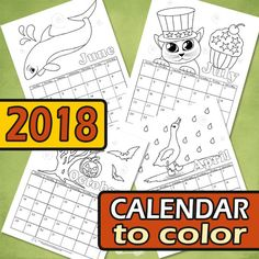 What better calendar to have than one with a personal touch – kids can color this one however they want and have lots of fun while doing it. I've made a different coloring page for each month of the year – either by highlighting the celebrations of the given month or making something seasonal. You...Read More »
