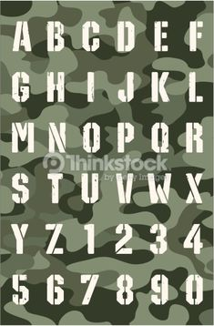 Military Font Vector Art 164194520