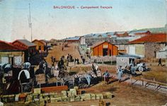 WW1, Salonica, French camp. http://j-toutain-soldat.pagesperso-orange.fr/Site_JT/1917-Im/G073--1917-04-30r.jpg