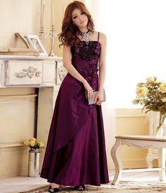 plus size long evening dress in fashion P-k3106 Fuchsia