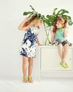 APR '14 Style Guide: J.Crew Girls Butterfly dress, corsage tee, pleated butterfly skirt, diamond tiara.