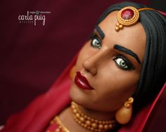 Indian woman chocolate bust by Carla Puig