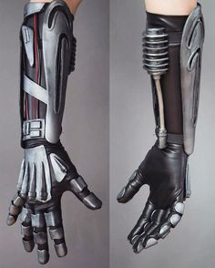 Robotic arm inspired by . Two day tutorial build I did for the German cosplay magazine . Cosplay Armor, Cosplay Diy, Cosplay Costumes, Cyborg Costume, Cyberpunk, Armadura Cosplay, Foam Armor, Arte Robot, Armor Concept
