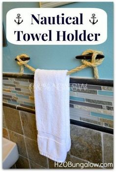 DIY: Nautical Towel Holder