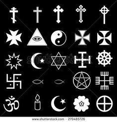 25 Religious Icons Set