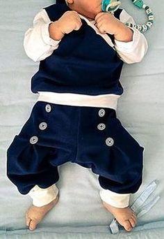 DIY-Anleitung: Kinderhose mit breiten Bündchen an Bein und Bauch nähen (Größen 50-98) via DaWanda.com