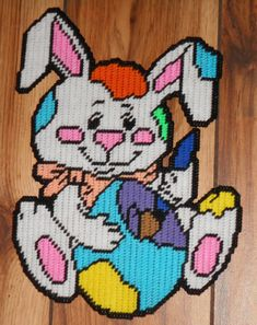 Decorating Easter Bunny Plastic Canvas Pattern