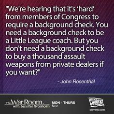 John Rosenthal on gun control  #TheWarRoom #guncontrol