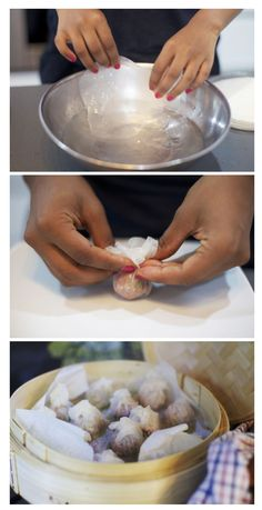 Gluten free dumplings (made with rice paper) Humming but with chicken or… Glutenfreie Knödel (aus Reispapier) Humming, aber mit Huhn oder Pute! Gf Recipes, Dairy Free Recipes, Asian Recipes, Cooking Recipes, Easter Recipes, Healthy Recipes, Gluten Free Rice, Gluten Free Cooking, Vegan Gluten Free
