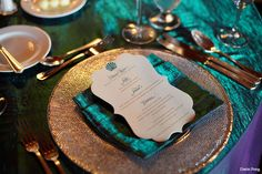 #Teal #peacock #menu for wedding dinners and receptions