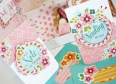 Floral Cards & Envelopes by Melissa Phillips for Papertrey Ink (April 2016)