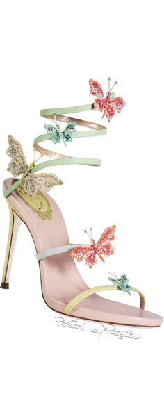 Make a fun statement with these adorable René Caovilla Sandals. Great for your shoe photo shoot