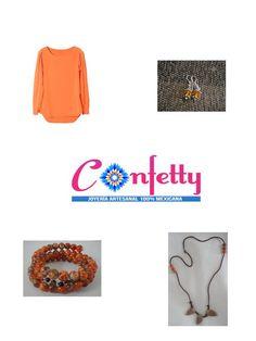 El #confetty hecho joyería. A tu blusa naranja dale diversión con accesorios @confettyjoyeria. Aprovecha hoy envíos gratis a toda la #república #mexicana en nuestra tienda en línea, tienes hasta las 11:59 pm https://www.kichink.com/stores/confettyjoyeriamexicana#.U-ARGeNdWSp visitanos #consumelocal #hechoenMéxico #hechoamano #artesanal