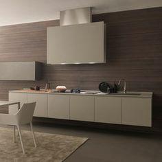 Twenty 2 linear kitchen in resin   Fitted kitchens   Modulnova