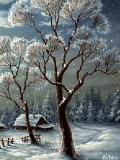 winter in the country. Winter Gif, I Love Winter, Winter Images, Winter Pictures, Christmas Pictures, Winter Snow, Winter White, Christmas Scenes, Christmas Art