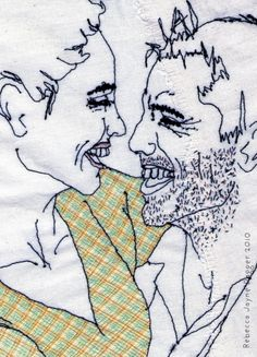 Hand Stitshed In Love Couple Embroidery Ready To Frame on Etsy, £160.00