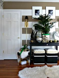 Black, White, Gold, Green and leopard - Bliss at Home Holiday Tour See more at…