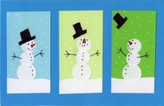 Sticker Snowman Card - Art Projects for Kids Winter Art Projects, Projects For Kids, Winter Project, Arte Elemental, Snowman Cards, Kindergarten Art, Art Plastique, Art Activities, Elementary Art
