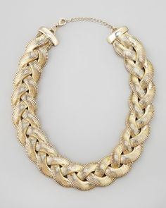 I want this braided chain necklace
