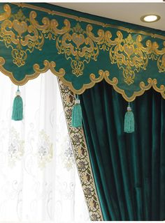 New arrival Twynam Blue and Green Plain Waterfall and Swag Valance and Sheers Custom Made Chenille Velvet Curtains Pair For Living Room- - Custom Curtains Drapes Draperies Sheers Rods and Tracks Pleated Curtains, Blue Curtains, Velvet Curtains, Drapes Curtains, Valances, Emerald Green Curtains, Victorian Window Treatments, Velvet Bedding Sets, Custom Made Curtains